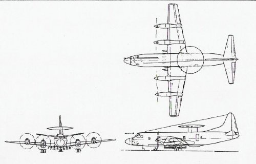 Copy (2) of 3-view drawing of Lockheed CL-520 Land-based Fle.JPG
