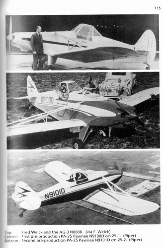 Texas/Transland/Weick Ag-1 to Ag-3 series (forerunners of the Piper