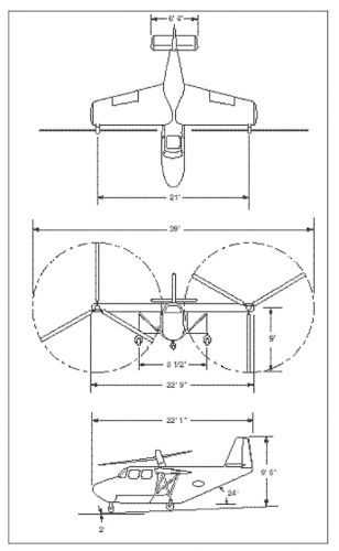 Transcendental_Model_2_3view_The History of The XV-15 Tilt Rotor_From Concept to Flight_Martin D.png