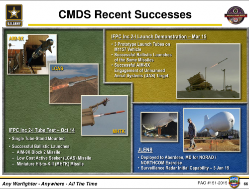 Army Indirect Fire Protection System and New Guided Missile