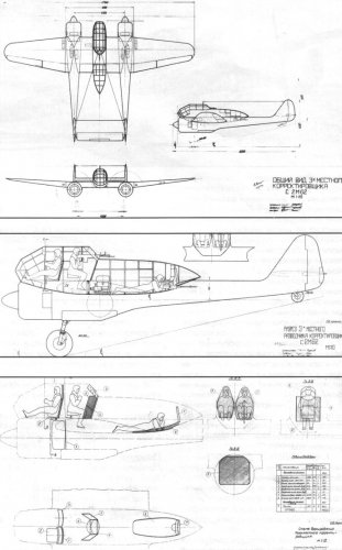 Booking plane diagram RK 2 m-62 (1943).jpg