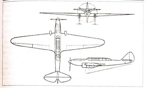 Diagram of the far reconnaissance-attack aircraft with m-34frn D.p. Grigorovich.jpg