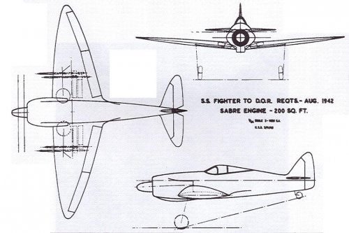 3-view drawing of Supermarine's proposed Sabre - based on the Spitfire.jpg