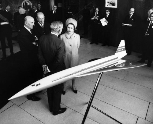 Queen Elizabeth II visits the factory where the Concorde is being developed September 1966.jpg