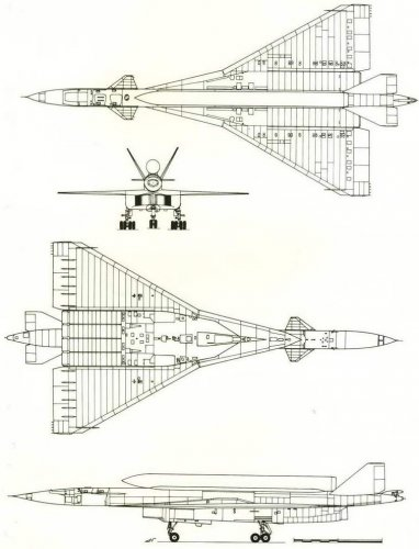 The aircraft-SCC project is based on the T-4 (No. 2 on the diagram on page 136).jpg
