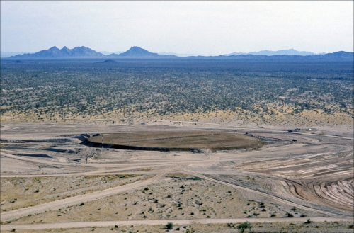 An aerial view of the intercontinental ballistic missile silo super-hardening test site.jpg