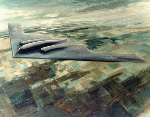 B-2 official artist's impression - DoD April 1988 - Robert 'Bob' Mack.jpg