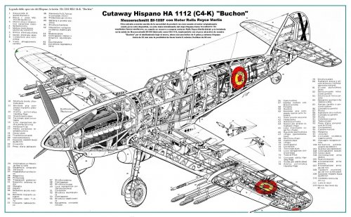 Cutaway Hispano Aviación HA 1112 ML1 (C4-K) Buchón.JPG