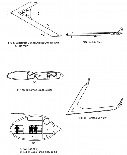 Flying Wing Type Transport Aircraft chaplin1990.png