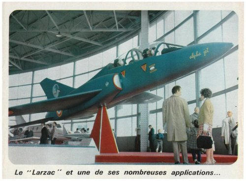 Bréguet Br.126 Alpha Jet mock-up - Aviation Magazine International - No. 516 - 15 Juin 1969......jpg