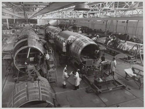 A saved image from my computer of Comet 4 production on 26th October 1956; © De Havilland Ltd ...jpg
