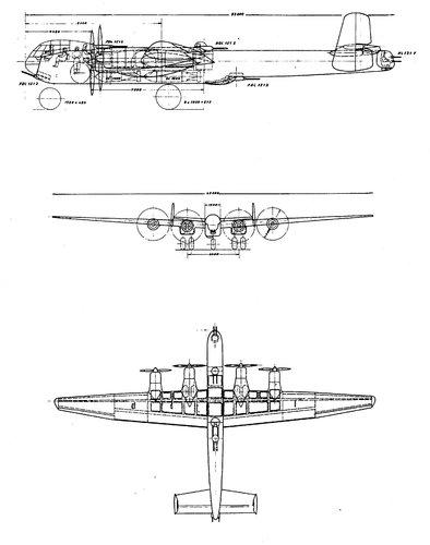 He 277 w-nosewheel gear 'Typenblatt' drawing.jpg