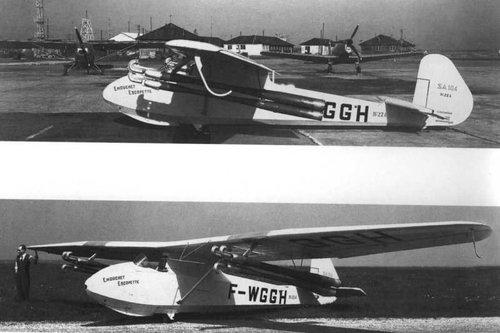 Arsenal SA-104 Emouchet glider with SNECMA Escopette pulsejets tested in 1950.jpg