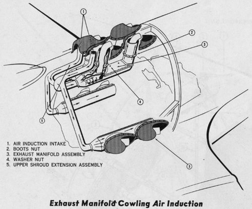 XP-75 exhaust manifold air jacket.JPG