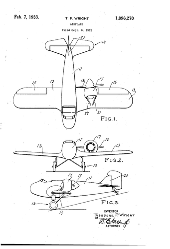 Patent drawing of use of a ducted assymetric engine on a light aircraft.png