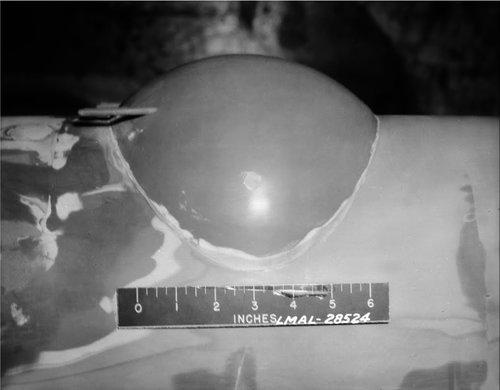 Vega turret on wind tunnel model.jpg