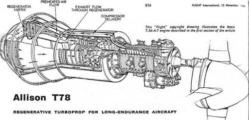 Regenerative Turboprop (Allison T78) | Secret Projects Forum on