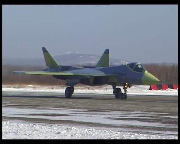 Первый полет ПАК ФА   ПАК ФА , PAK FA, T-50.mp4_snapshot_00.27.652.png