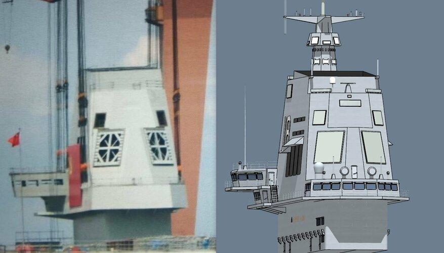 PLN Type 003 carrier island real vs CG.jpg