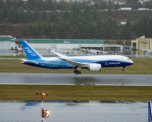 Landing after first flight at north end of Boeing Field-small.jpg