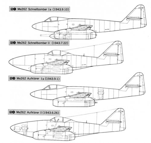 Me 262 Schnellbomber I and II.jpg