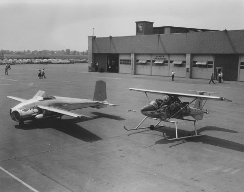 Bell X-14 and Unknown VTOL at Buffalo.jpg