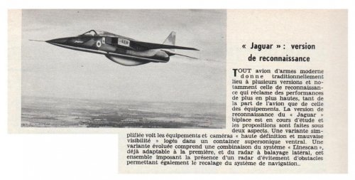 Jaguar Reconnaissance - Aviation Magazine International No. 486 - 1 Mars 1968........jpg