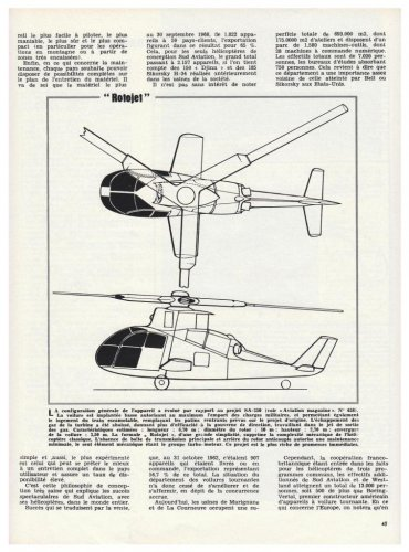 Sud Aviation Rotojet & other compound helicopter projects - Aviation Magazine International - No.jpg