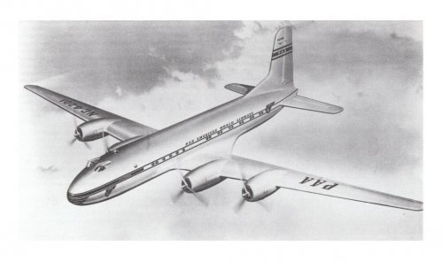 Douglas DC-7 artist's impression in Pan American World Airways livery.......jpg