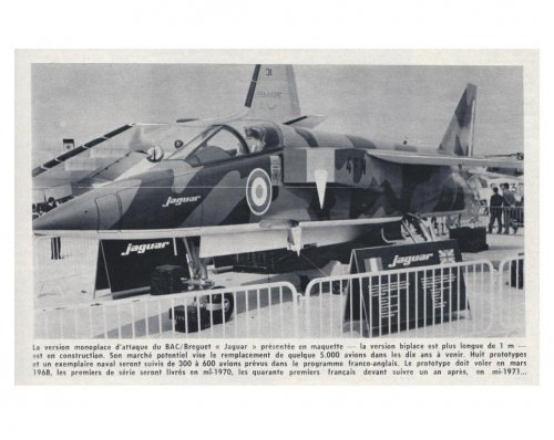 Jaguar - BAC Bréguet mock-up - Aviation Magazine International - No. 469 - 15 Juin 1967.......jpg