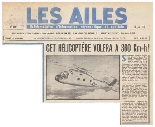 Sikorsky high-speed helicopter project - Les Ailes - No. 1,832 - 30 Juin 1961.......jpg