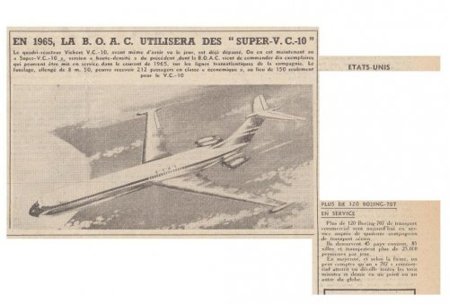 BAC Vickers Super VC-10 jet airliner project - Les Ailes - No. 1,785 - 9 Juillet 1960.......jpg
