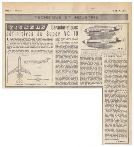 BAC Vickers V1151 Super VC-10 jet airliner project - Les Ailes - No. 1,831 - 23 Juin 1961.......jpg