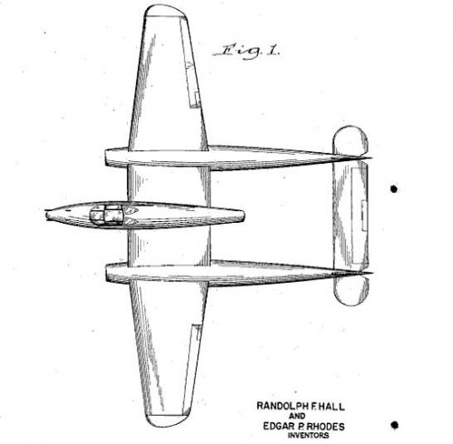 1943 twin boom jet fighter.JPG