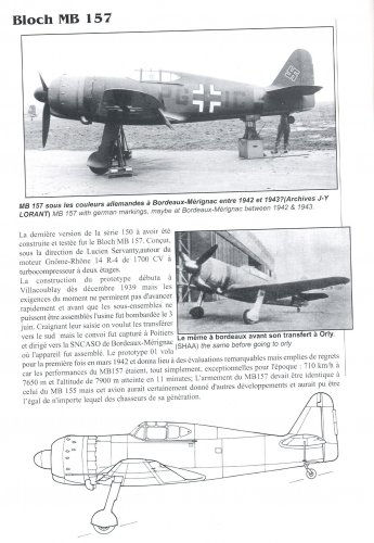 Bloch MB-157 | Secret Projects Forum
