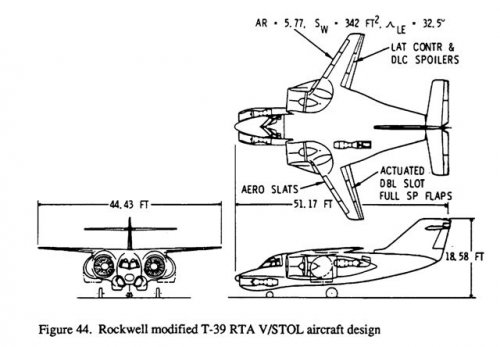 Rockwell modified T-39 RTA VSTOL aircraft design.jpg