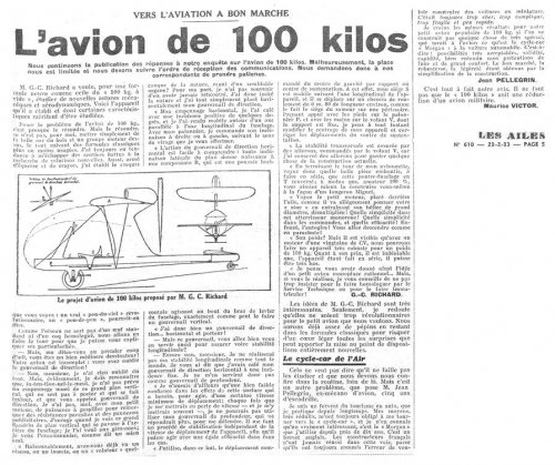 avion Richard de 100 kilos, 1933.jpg